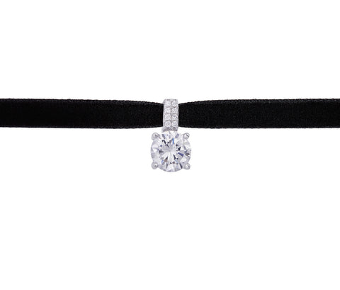 1.5 Carat Elegant Diamond-shaped Necklace