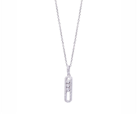Tassel Charm Silver Necklace