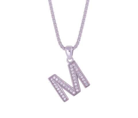 Silver Alphabet Letter 'D' Necklace
