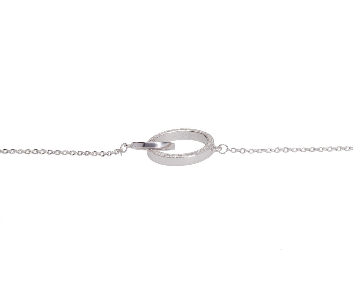 Silver Bracelet With 2 Circle Rings
