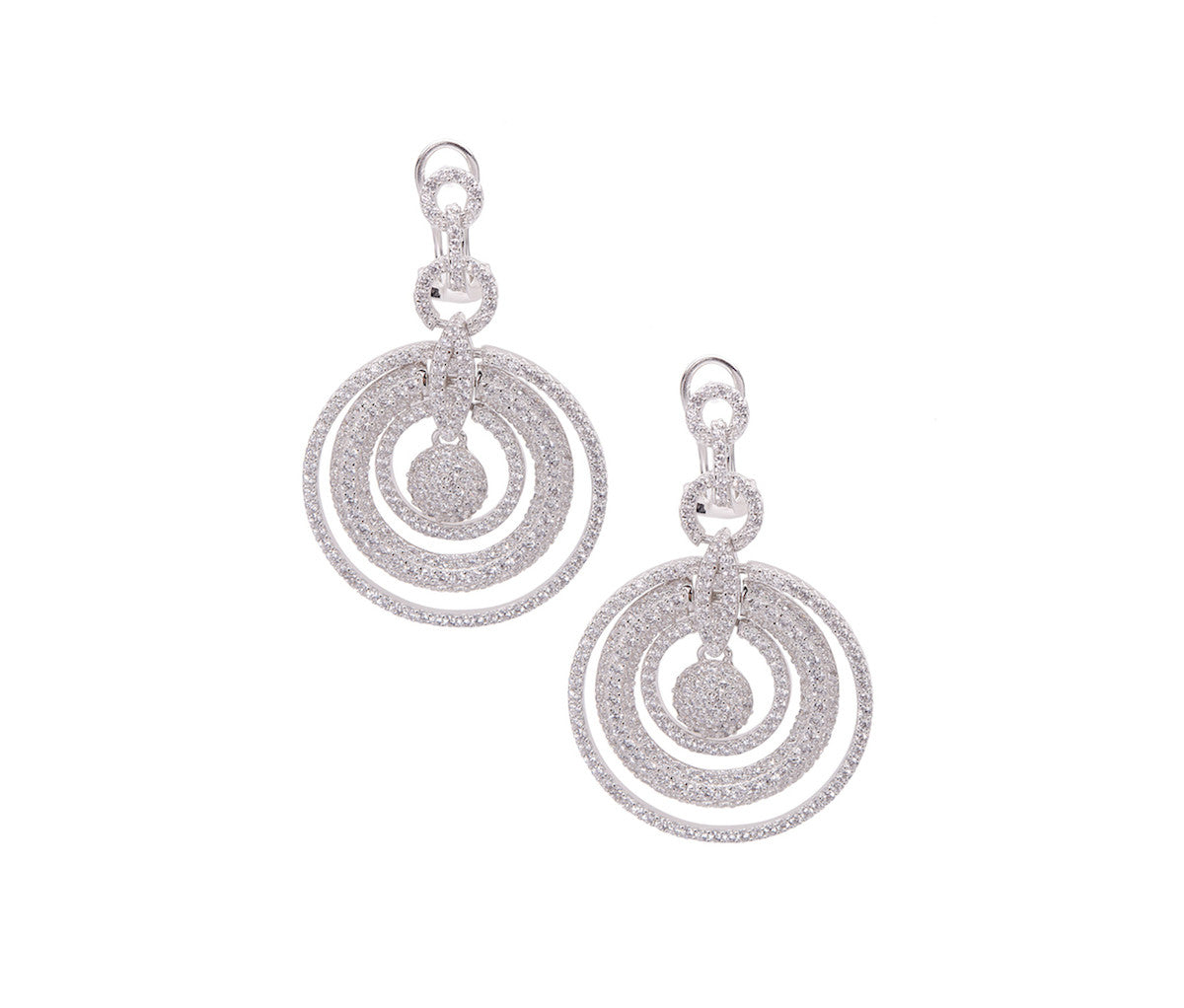 Silver Multi-Loop Earrings