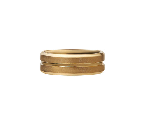 Gold Tungsten Carbide Ring