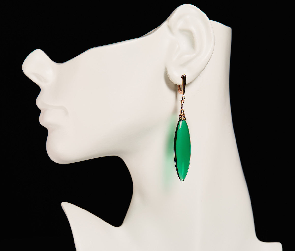 Emerald Obsidian Earrings