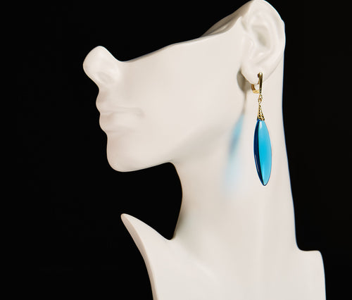 Blue Obsidian Earrings