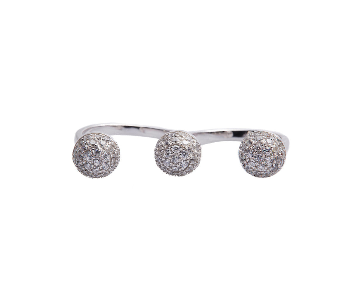 Silver Statement Stud Ring
