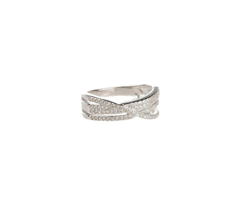 Silver Triple Curved Bands Cocktail Ring