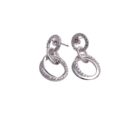 Silver ZigZag Cuff Earrings