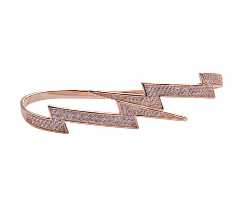 Rose Gold-plated Silver Lightning Hand Bracelet