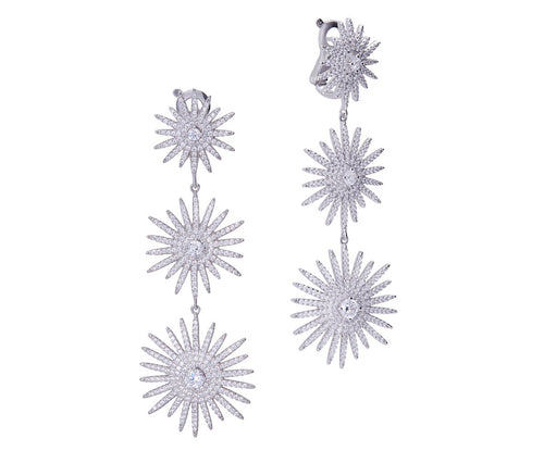 3 Stars Dazzling Earrings