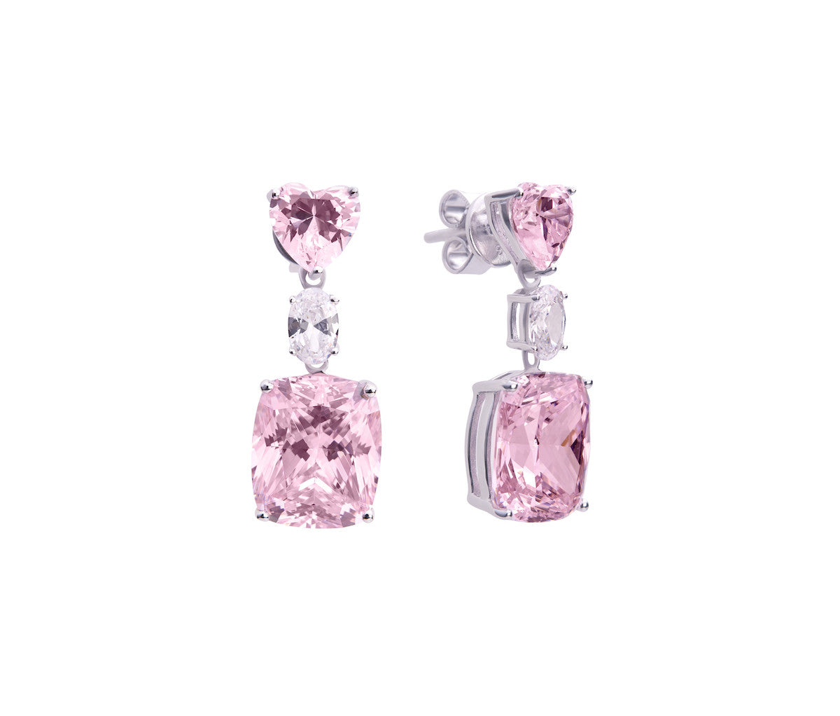 Rose Diamond Enchanted Lover Earrings