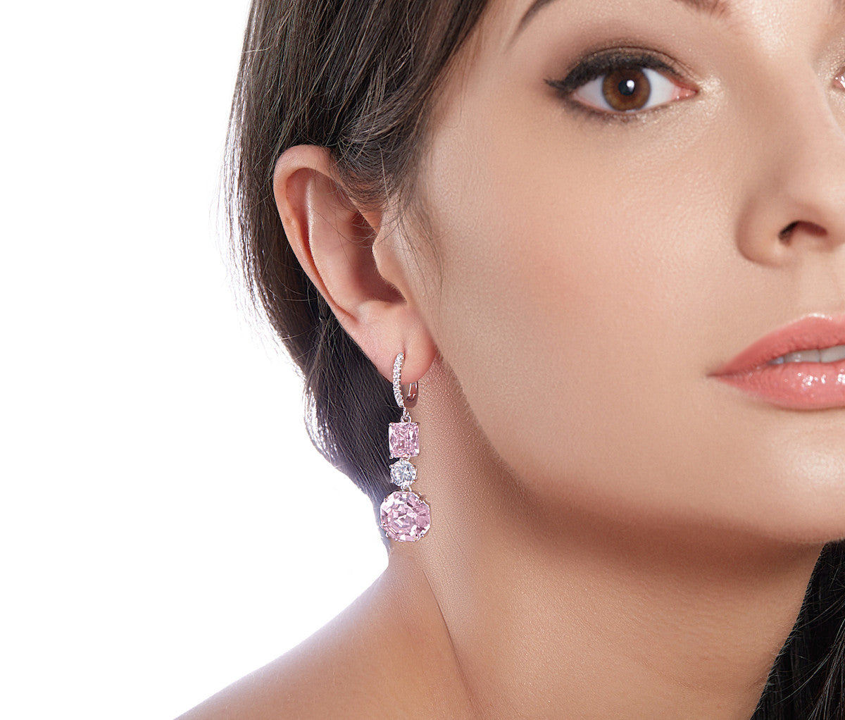 Rose Diamond Enchanted Princess Earrings