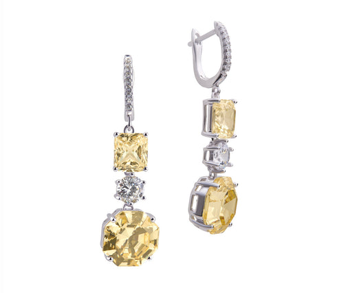 Yellow Diamond Enchanted Princess Earrings