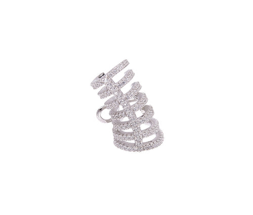 Silver Spring Cuff Earring