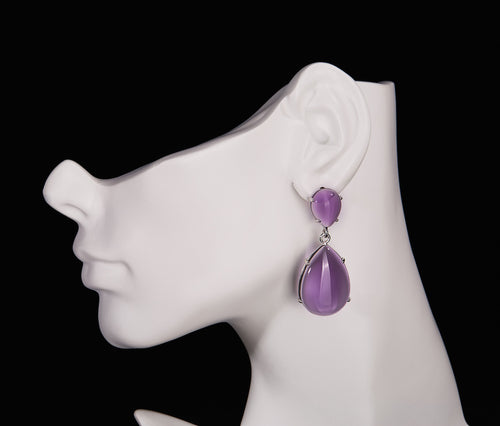 Amethyst Obsidian  Earrings