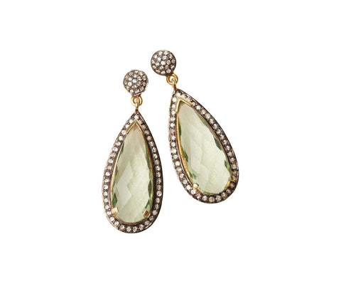 Silver Thick Teardrop Earrings