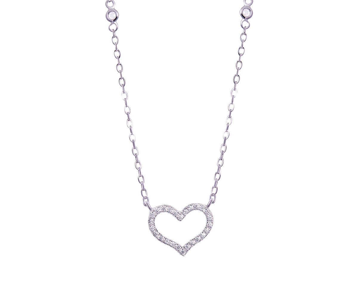Silver Petite Heart Necklace