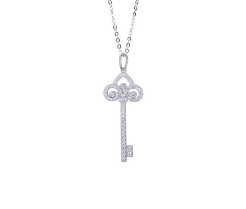 Silver Classic Key Necklace