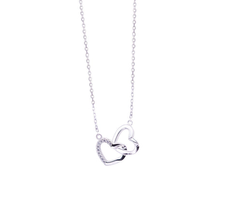 Teardrop Pearl Silver Necklace
