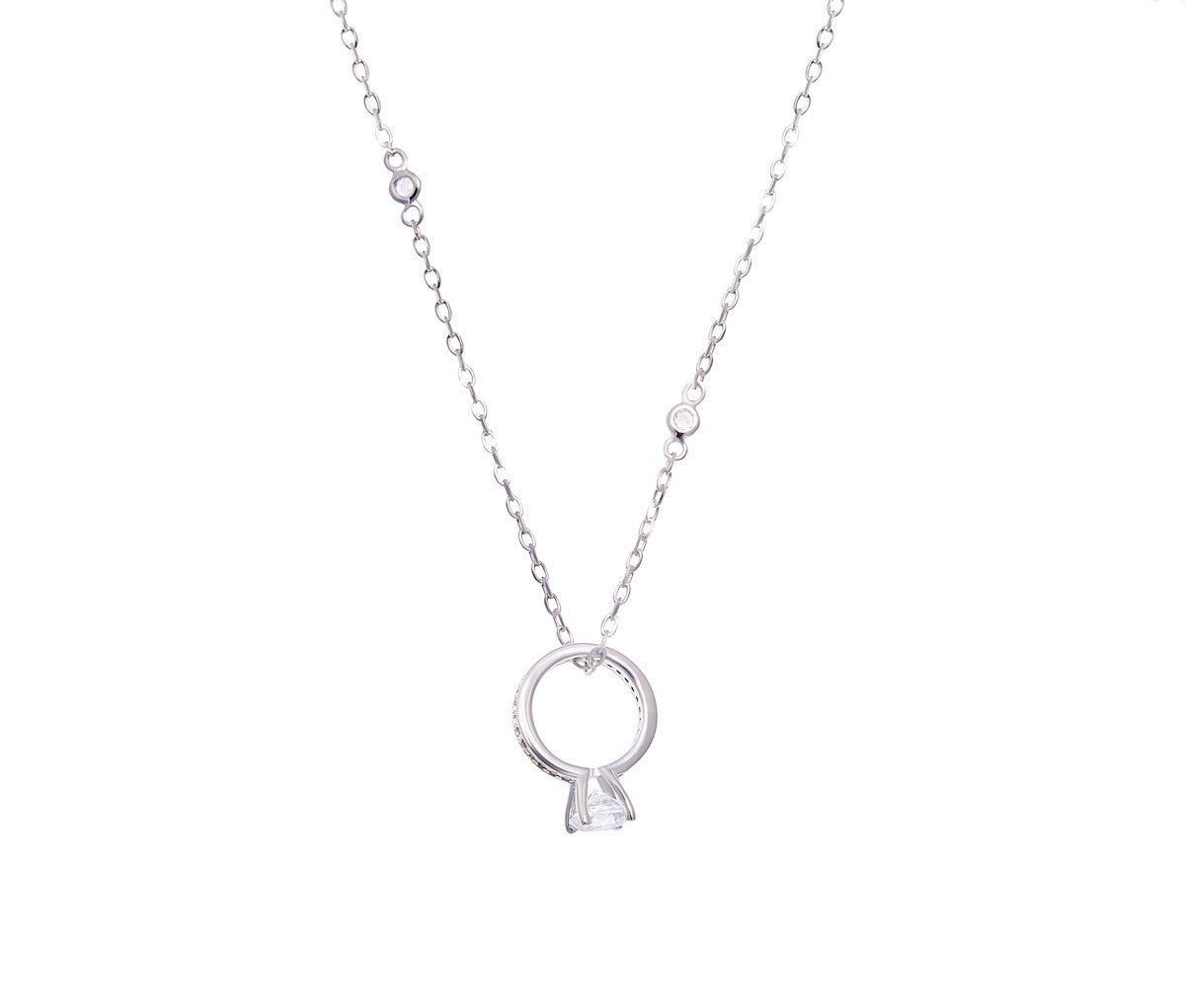 Silver Petite Diamond Necklace