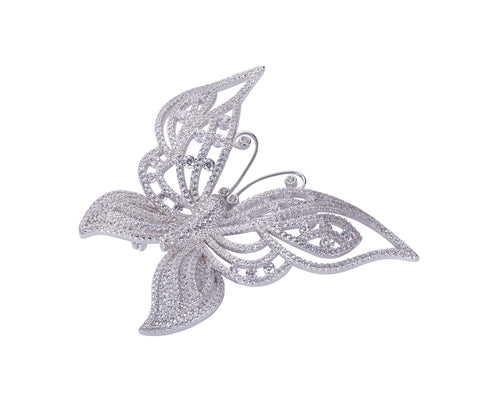 Metal Pearl Flower Brooch / Hijab Pin