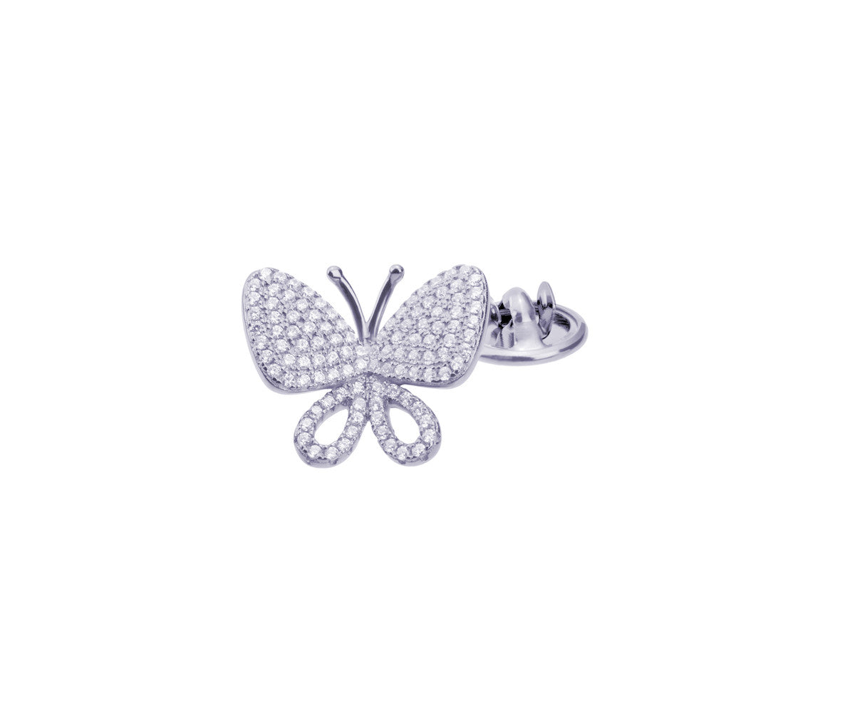 Simply Butterfly Silver Brooch