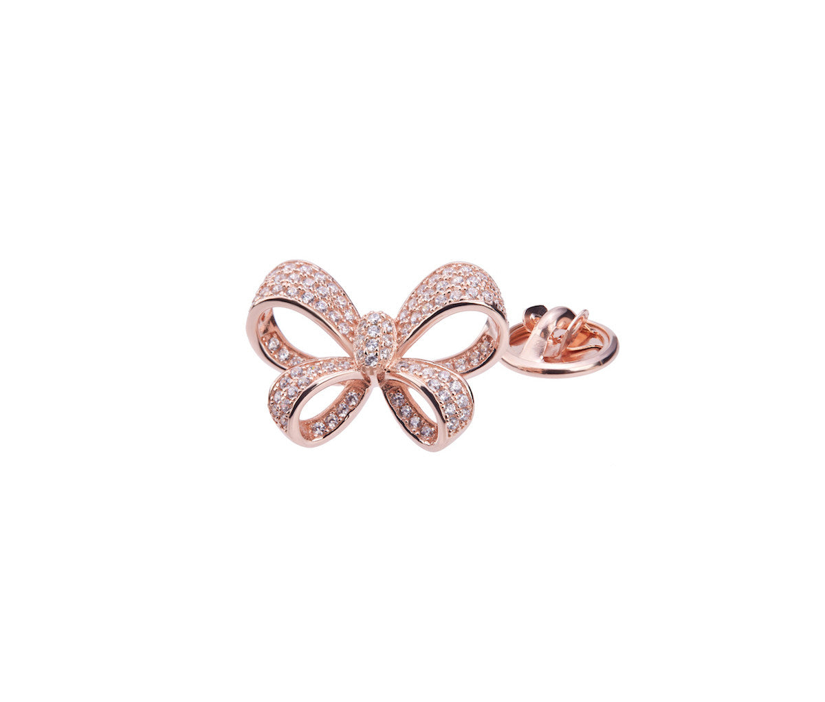 Rose Gold-plated Silver Ribbon Brooch