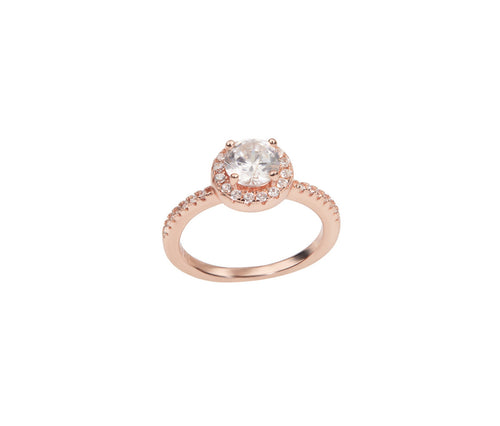 1 Carat Diamond-Shaped Rose Gold Ring