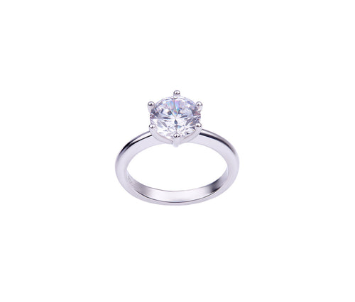 1.5 Carat Elegant Diamond-Shaped Silver Ring