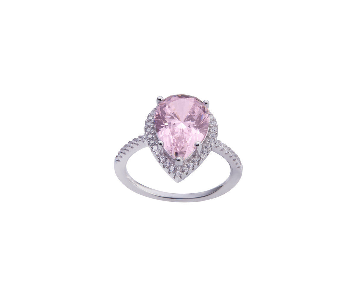Rose Diamond Enchanted Teardrop Ring