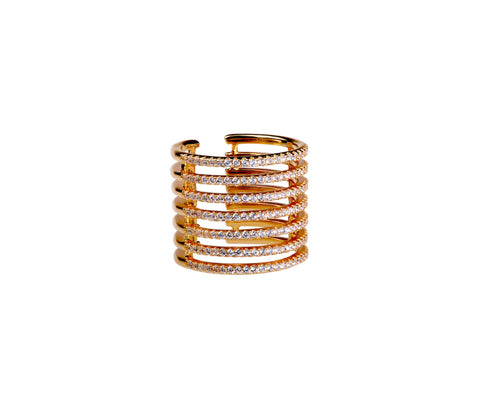 Rose Gold-plated Silver Stacked Ring