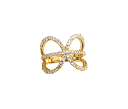 Gold-plated Silver Pisces Ring