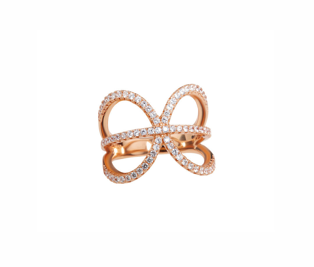 Rose Gold-plated Silver Pisces Ring