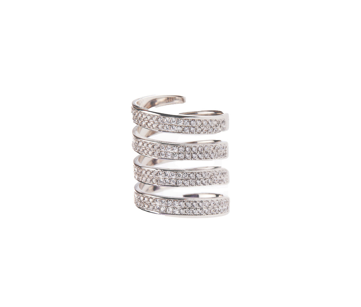 Silver Infinite Row Ring