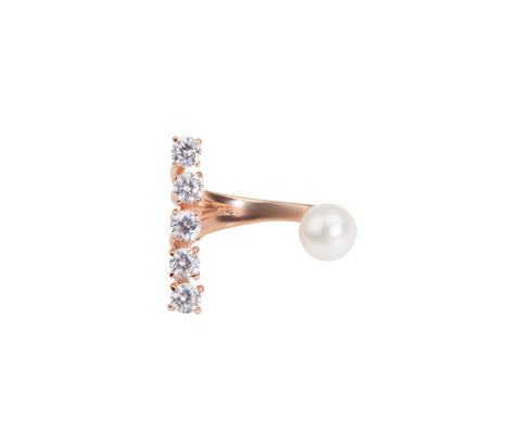 Rose Gold-plated Silver Nail Ring