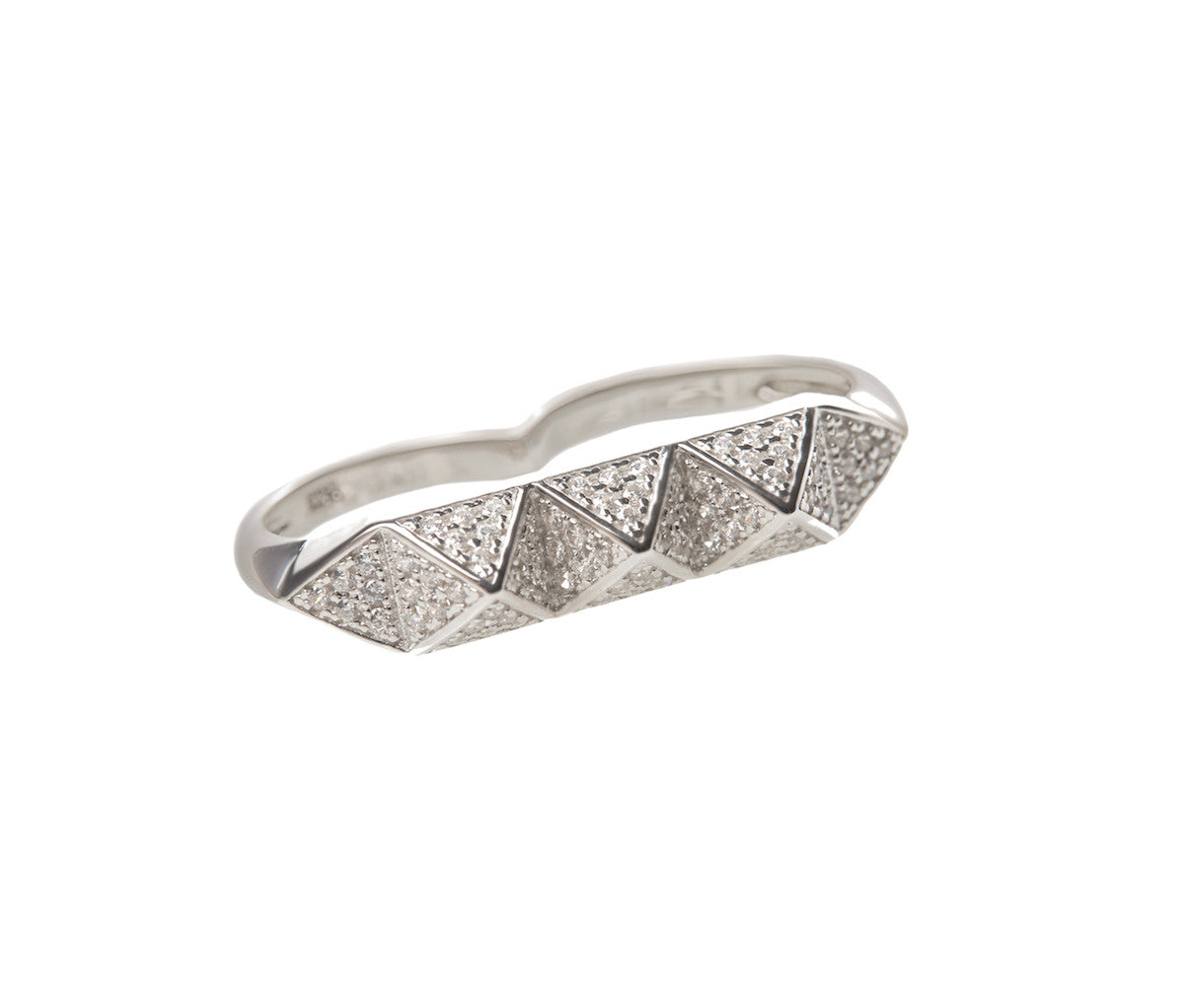 Silver Triple Pyramid Ring