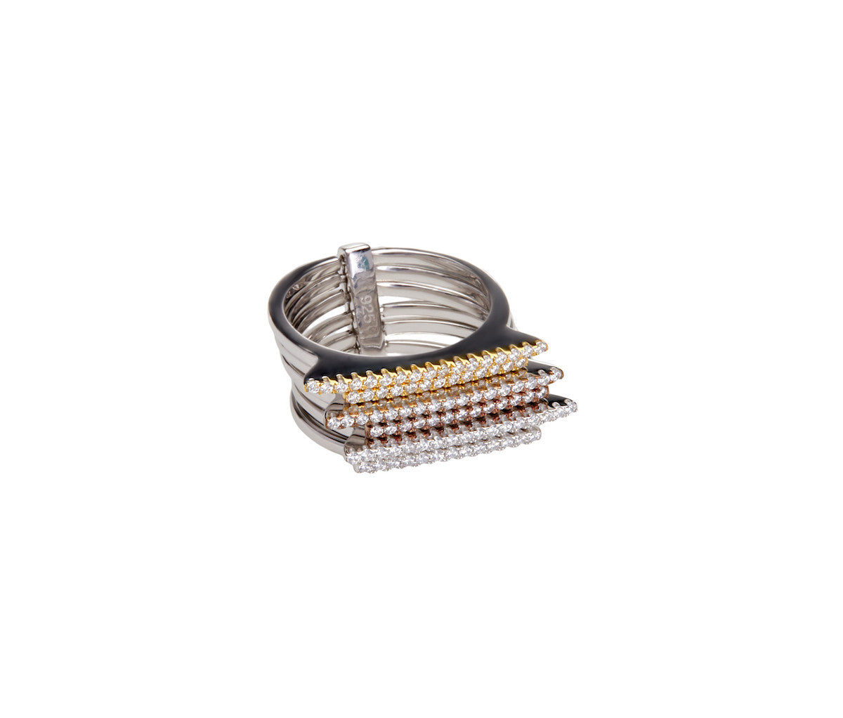 Gold-plated Silver Stacked Ring