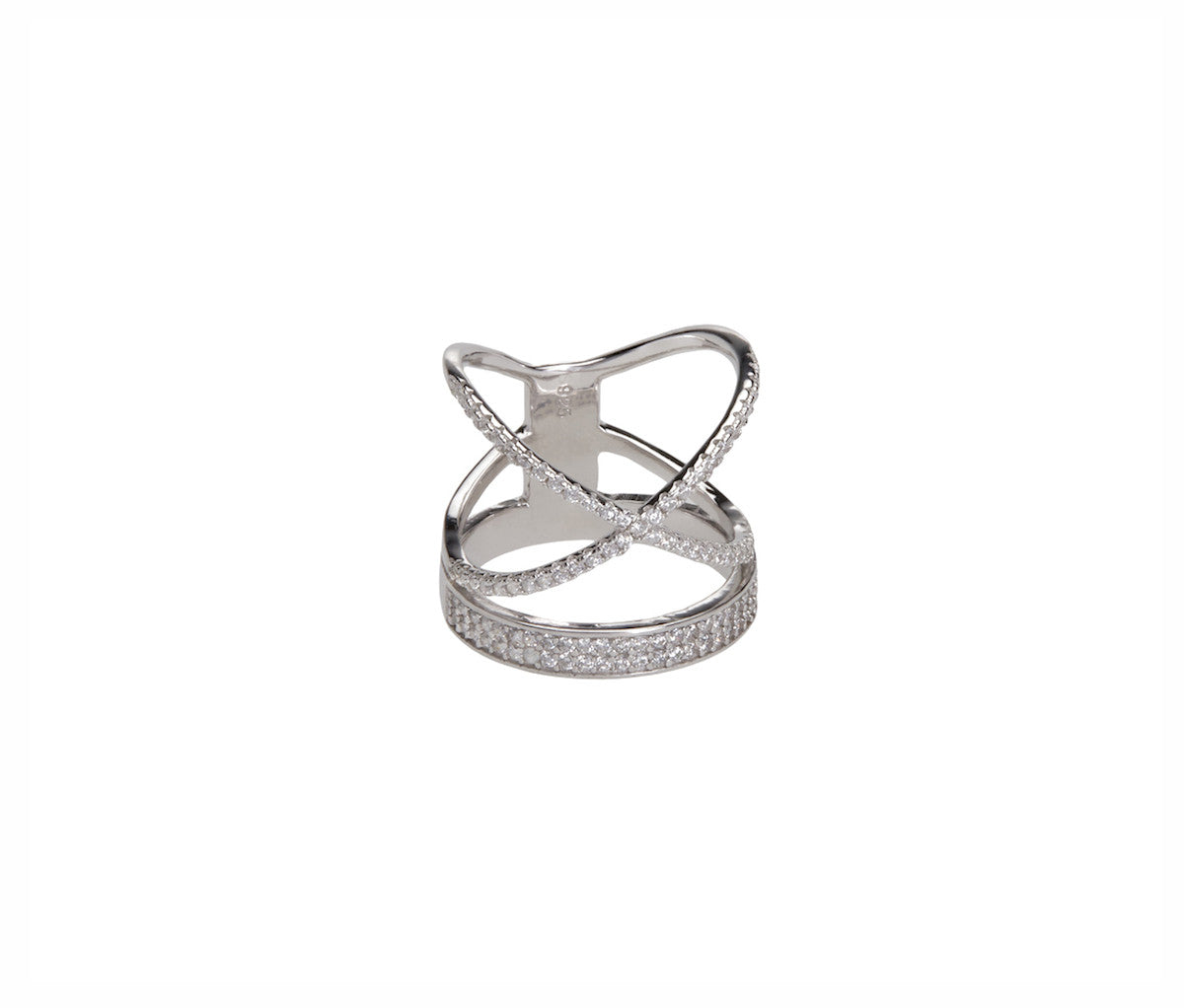Silver Orbits Statement Ring