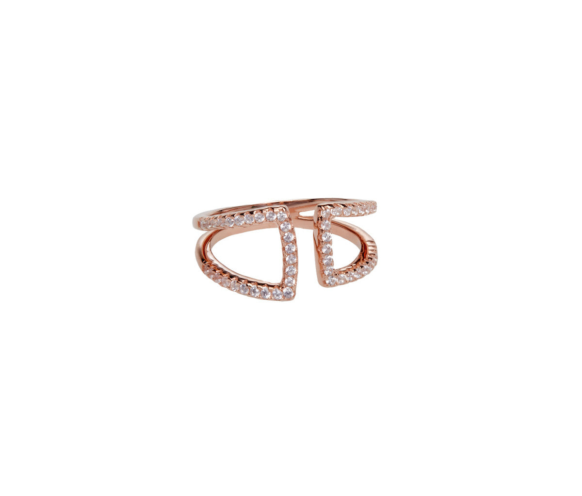 Rose Gold-plated Silver Elegant Ring
