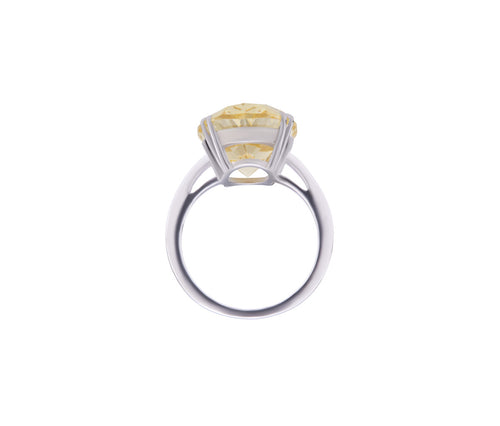 Yellow Diamond Enchanted Oval Ring
