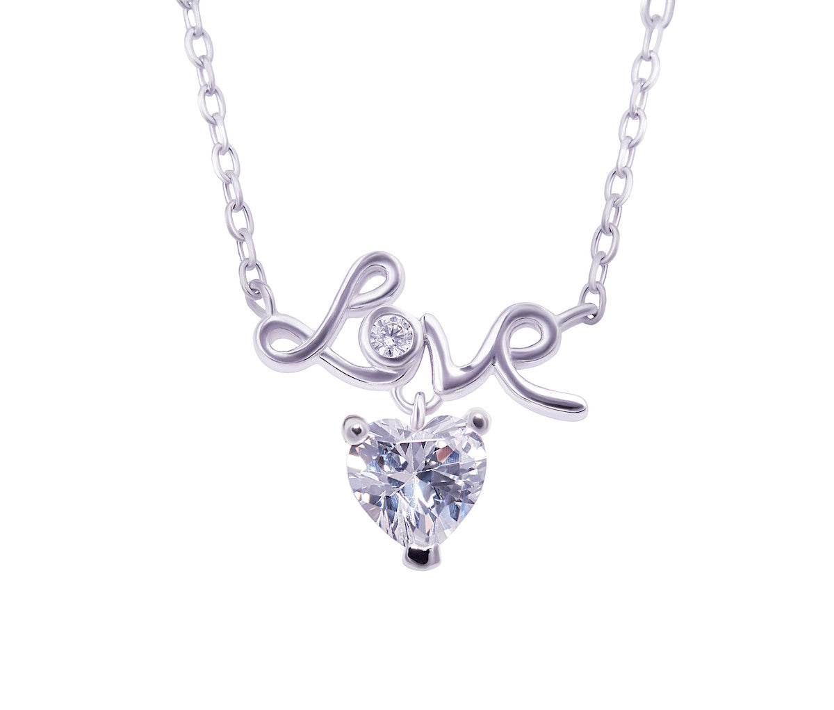 Silver LOVE Heart Necklace