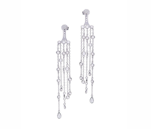 3D Enchanted Crystal Dangling Earrings