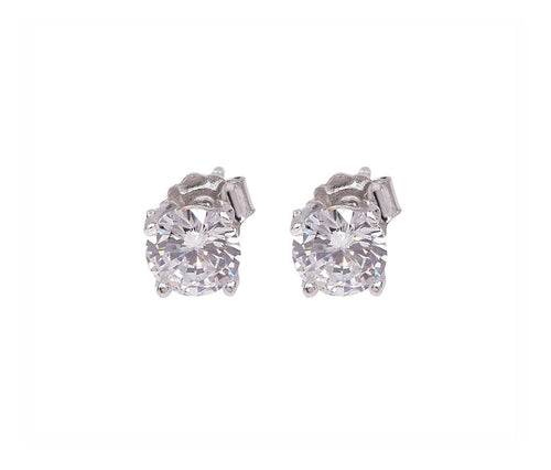 1 carat Silver Diamond-Shaped Earrings