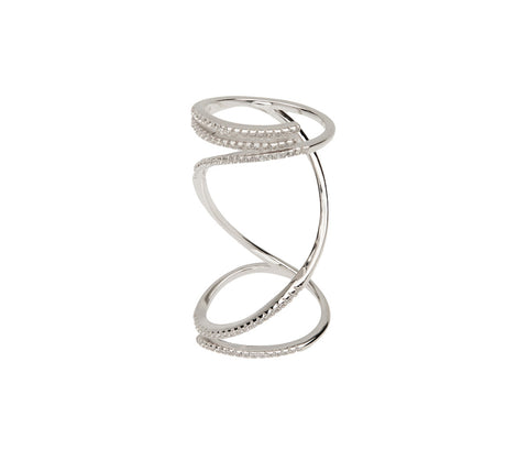 Silver Criss Cross Ring