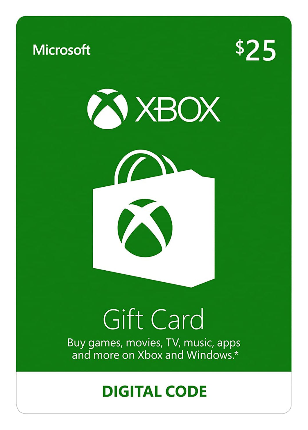 XBOX 25 USD Gift Card US