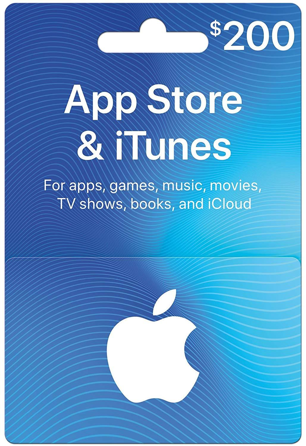 App Store & iTunes 200 USD GIFT CARD US