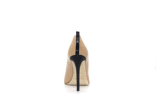 Italian Handmade Nude Napa Leather High Heel (100mm)Rear view.