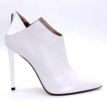 Tronchetto Bianco Ankle Boot (100mm)