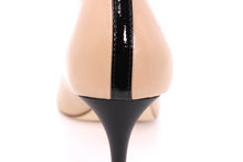 Italian Handmade Nude Napa Leather Mid Heel (70mm) Rear detailed view.