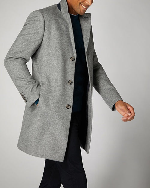 Remus Uomo Grey Tailored Fit Rueben Coat