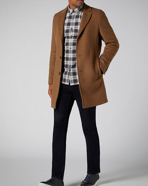 Remus Uomo Raeburn Tailored Fit Coat with Chelsea Collar